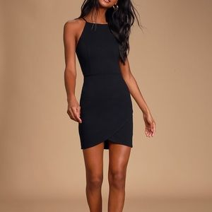 Black body con mini dress
